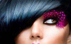 eye lashes | Pink feather eyelashes