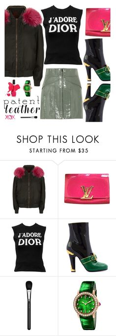 """""""City Slickers: Patent Leather"""" by hamaly ❤ liked on Polyvore featuring Mr & Mrs Italy, Louis Vuitton, Alexander Wang, Christian Dior, MAC Cosmetics, GALA, Bulgari and patentleather"""