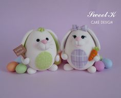 The most adorable sugar bunnies ever....by the talented Sweet K!