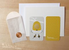 Baby Bee Gender Reveal Scratch Off Card Suite / Honey Yellow @Jenna Carlson ... IS THIS YOUR PLAN FOR JULY 7TH?!?!  :)