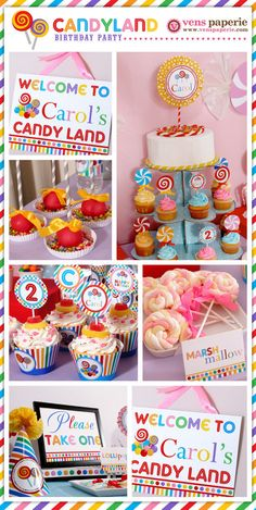 Candyland Birthday Party Package Personalized FULL by venspaperie, $35.00