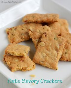 savory oats crackers (gonna make gluten free oat crackers
