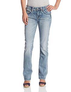 Silver Jeans Women's Suki High-Rise Baby Bootcut Jean Sil-$103.20