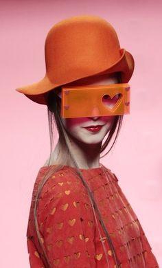 A model presents a creation by designer Agatha Ruiz de la Prada during the Cibeles Madrid Fashion Week Fall/Winter 2011 show