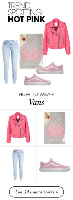 """""""Pretty in pink"""" by dilysowusu588 on Polyvore featuring Vans, Levi's, MANGO, contestentry and NYFWHotPink"""