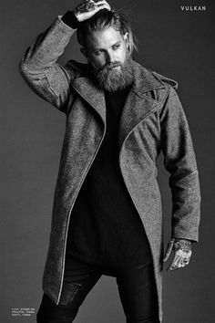 How To look Rugged Like Josh Mario John? Josh Mario John, Mens Wool Overcoat, Mens Wool Coats, Rolled Up Jeans, Mens Winter Coat, Smart Outfit, Mens Fashion Blog, Beards, Fashion 2020