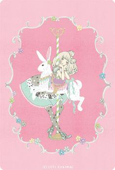 A carnival inspired Angelic Pretty illustration by Imai Kira / 今井キラ. #gothic #lolita
