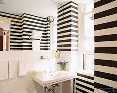 Guest bathroom. cute stripes