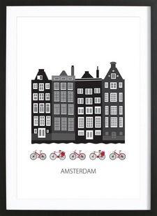 Amsterdam City - Forma Nova - Ingelijste poster