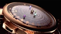Astronomical Watch Depicting Real Time Orbits Planets