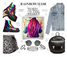 """How to Rock Rainbow Hair"" by befunky ❤ liked on Polyvore featuring T.U.K., UNIF, Topshop, Dorothy Perkins, Metal Couture, Rodarte, rainbowhair and PolyvoreMostStylish"