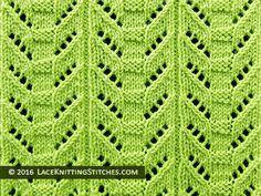 Lace knitting. Totem Pole Lace panel