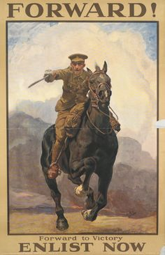 """historywars: """"This poster was produced in September 1915 and was the last one to make use of an image in the recruitment campaign. By the time it was produced enlistment numbers had fallen and the..."""
