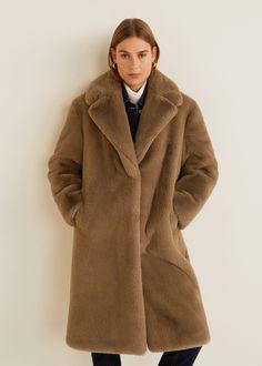 Manteau femme fausse fourrure MANGA beige | Atlas For Men