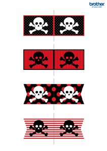 Create, customize and print custom party decorations. Leverage Brother Creative Center's party decorations templates for Pirates Party Cupcake. Deco Pirate, Pirate Day, Pirate Birthday, Pirate Theme, Pirate Flags, Birthday Ideas, Decoration Pirate, Pirate Party Decorations, Party Themes