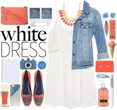 """White dress"" by valdep on Polyvore"