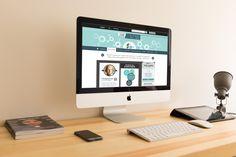 Webdesign landing page. Réalisé pour Axelles Com