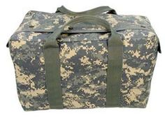 "camouflage bags army digital camo air force crew bag $24.51 heavyweight 1000 denier nylon, 17"" x 11"" x 10"" Military Style Bags at Army Navy Shop"