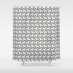 Boxer Dog Silhouettes Pattern Shower Curtain