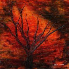 Dry Twigs  Impasto  Digital Painting  Elizabeth Barros