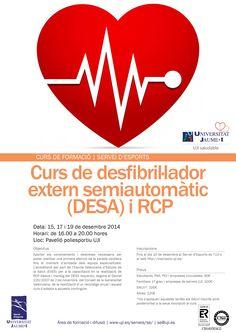 Curs desfibrilador extern semiatuomàtic (DESA) i RCP, 15-17-19.desembre.2014