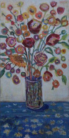 "Vase, 36H"" x 18W"" Acrylic 2014  SOLD rea@reakelly.com"