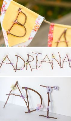 Make Rustic Letters out of Sticks and Branches   Click for 18 DIY Rustic Wedding Ideas on a Budget   DIY Rustic Wedding Decor Ideas