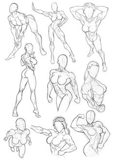 Sketchbook Figure Studies 4 by Bambs79
