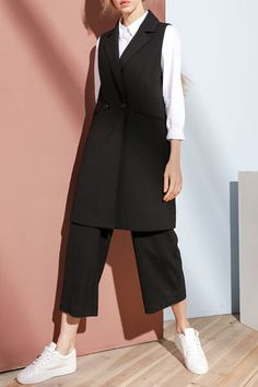 BOOTYJEANS- Brief Style Lapel Collar Waistcoat- $67.99