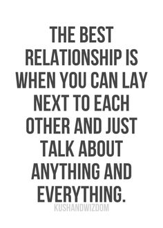 The Best Relationship Is ...
