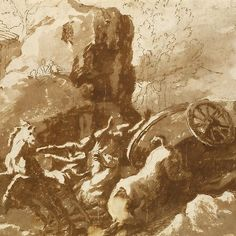 The Death of Hippolytus by Nicolas Poussin