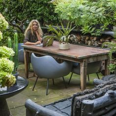 Nature lover: outdoors fan Abigail Ahern uses her garden all through the year, for working, cooking, dining and relaxing Back Gardens, Small Gardens, Modern Gardens, Garden Bed Layout, Backyard Ideas For Small Yards, Abigail Ahern, London Garden, Raised Garden Beds, Deco Design