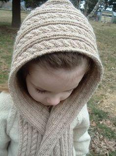 Hooded scarf for children