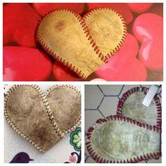 Baseball Heart Valentine's Day Heart Heart Wedding by ShabbyWorks