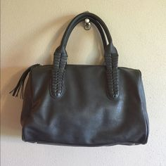 Vegan Leather Purse Gorgeous gray vegan leather purse, new without tags Francesca's Collections Bags