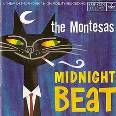 The Montesas -- Midnight Beat — vintage album cover