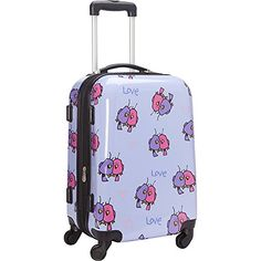 5dfed816b Ed Heck Multi Love Birds Hardside Spinner Luggage 21 Inch Light Purple One  Size https: