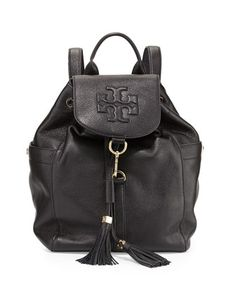 4ea382786340d Tory Burch Thea Drawstring Leather Backpack