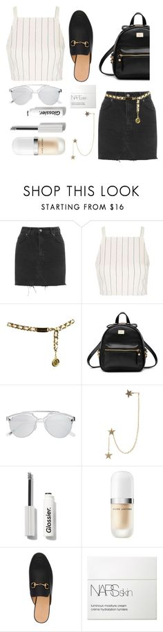 """Untitled #108"" by georgialanexo ❤ liked on Polyvore featuring Topshop, Chanel, Witchery, Zimmermann, Marc Jacobs, Gucci and NARS Cosmetics"