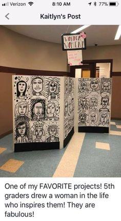 Woman you admire middle school art middle school art projects, art projects elementary, elementary Middle School Art Projects, High School Art, School Ideas, Programme D'art, Classe D'art, 6th Grade Art, Ecole Art, Art Curriculum, Collaborative Art