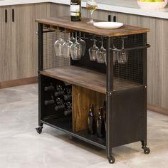Diy Bar Cart, Bar Cart Decor, Bar Carts, Bar Cart Wood, Wine Cart, Beverage Cart, Bar Sets For Home, Mini Bar At Home, Bar On Wheels