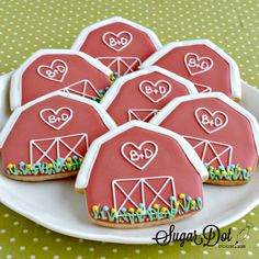 Sugar Dot Cookies: Barn Sugar Cookies with Royal Icing