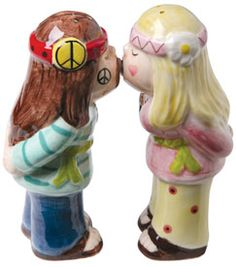 hippie salt and pepper shakers