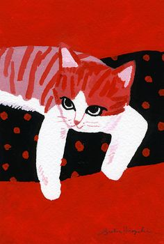 Cats in Art and Illustration Art And Illustration, Animal Illustrations, Design Illustrations, I Love Cats, Crazy Cats, Cool Cats, Gatos Cats, Photo Chat, Here Kitty Kitty