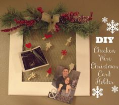 A Little Moore: Chicken Wire Christmas Card Holder