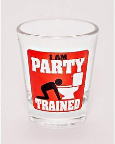 988753ac4d41 Party Trained Shot Glass - 1.5 oz. - Spencer s