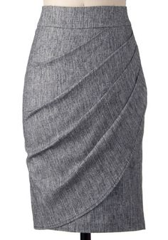Moonlighting Skirt-Mod Retro Indie Clothing & Vintage Clothes : high waist wrap asymmetrical grey