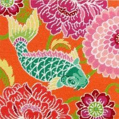 Needlepoint Kit Koi with Flowers From Dimensions by abullrun, $33.99