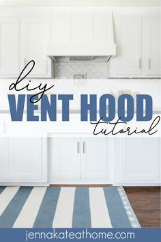 Learn how easy it is to build a DIY wood vent hood cover to match with your existing white cabinets for a custom look at a budget price! Stove Vent Hood, Kitchen Vent Hood, Oven Hood, Stove Hoods, Kitchen Stove, Joanna Gaines, Range Hood Cover, Range Hoods, Recirculating Range Hood