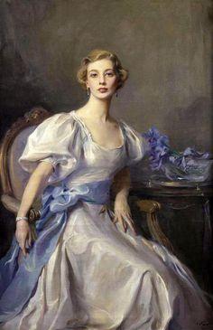Philip Alexius de Laszlo - Portrait of Cecile Rankin signed and dated 'de Laszlo/1937